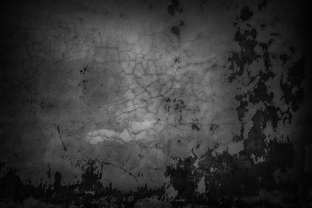 dark texture of a cement wall, black urban background Stock Photo