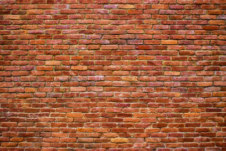 Urban brick wall texture old masonry background.