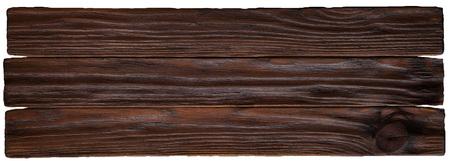 Oude landelijke houten muur in donkere bruine kleuren, de gedetailleerde textuur van de plankfoto