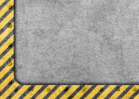 Grunge Black and Yellow Surface as Warning or Danger Frame, Old Metal Textured