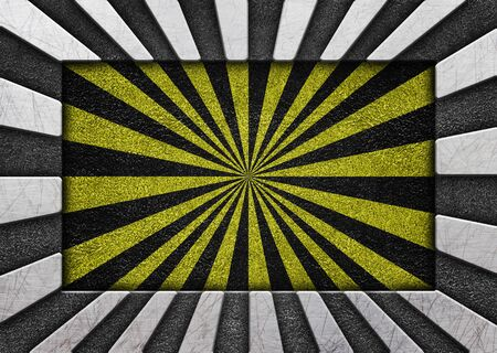 Iron background with yellow warning coloring, metallic texture Stock Photo