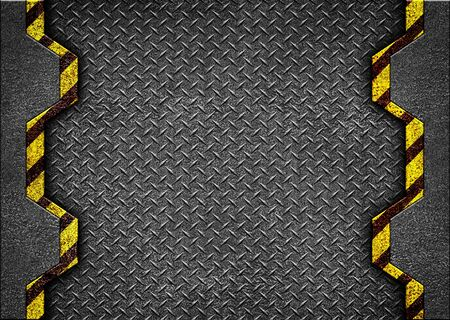 Abstract metal texture background with yellow stripe pattern