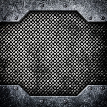 metal mesh texture bonded with rivets, hard background, 3d, illustration