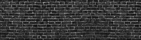 파노라마 검은 벽돌 벽 배경 높은 해상도