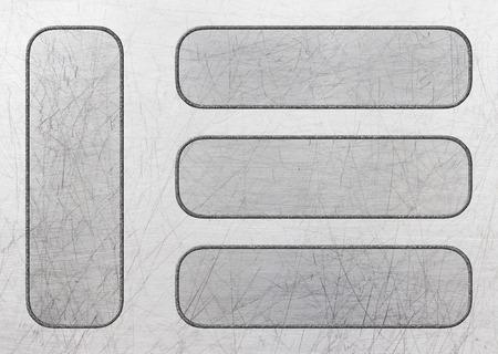 Metal aluminum plate surface design as a background, 3d, illustration Banco de Imagens - 80124454