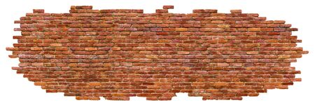 texture of brick wall High quality, isolated on white Stock Photo