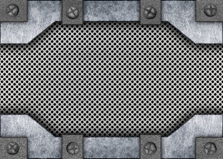 panels: ight gray metal template with grid background texture, 3d, illustration