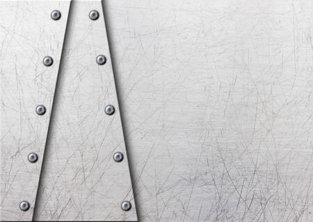 rivets: grunge metal background with rows of bolts, 3d, illustration