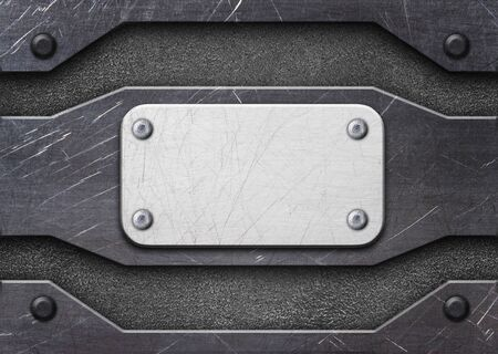 metal plate with rivets, surface design as a background, 3d, illustration