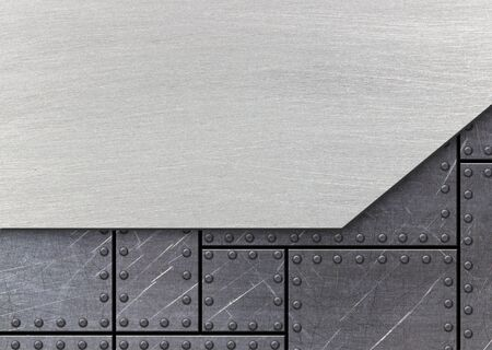 steel plate: Metal background for industrial and technology design, 3d, illustration
