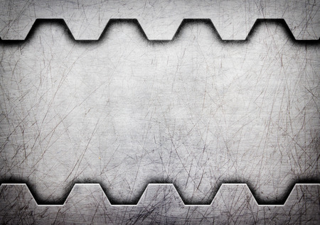 Metal background or texture of brushed steel plate, 3d, illustration Stock Photo