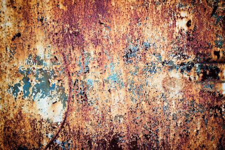 Texture of rust metal, steel sheet coated with corrosion. Old iron background Stock Photo