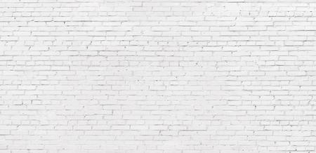 old white brick wall background, vintage texture of light brickwork Фото со стока