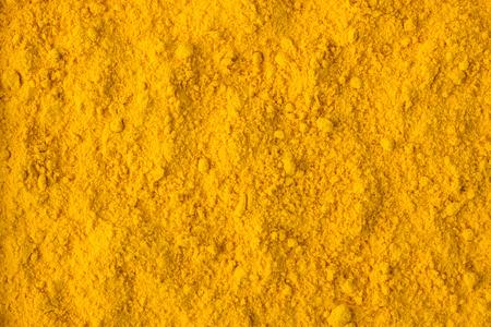 texture of saffron powder close-up, spice or seasoning as background Standard-Bild
