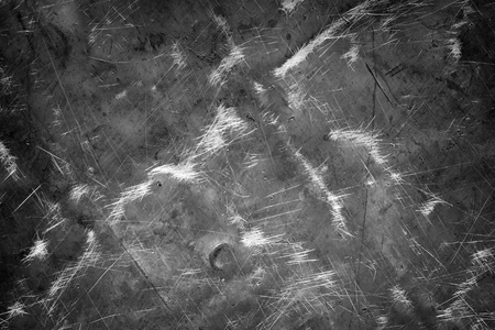 Textured steel background, dark metal surface with scratches and scuffs