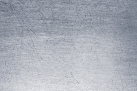 Old metal sheet background, brushed silver surface of iron