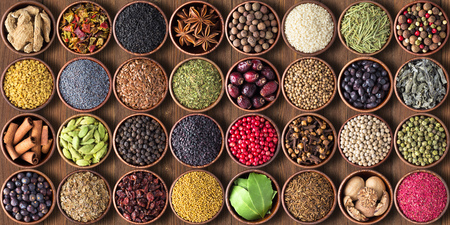 set as background spices, seasonings for food of various cuisines