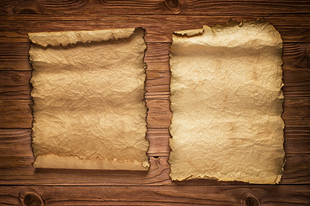 Antique background of open rolls on the table