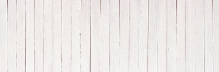 Wood table painted white, wooden texture of a panoramic view 写真素材
