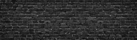 black brick wall, brickwork background for design 写真素材