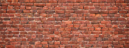 brick wall background, red stone masonry texture