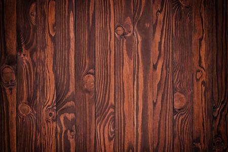 Wooden brown desk floor or table background Banco de Imagens
