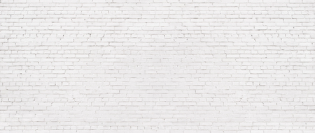 white brick wall background, texture of whitened masonry