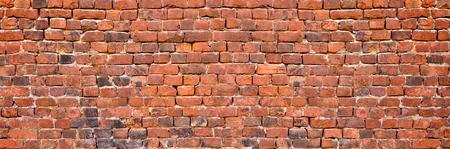 Antique brick wall texture. old brickwork background exterior Banco de Imagens