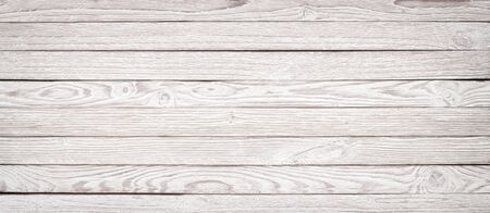 wood background Whiteboard, panoramic view texture  wood for design Banco de Imagens