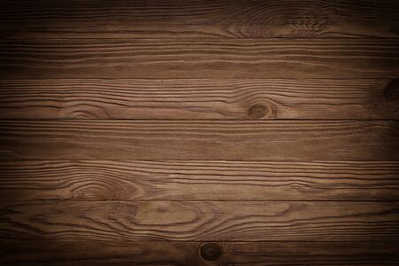 atural wooden timber, table surface. Light brown painted hardwood boarded wall Banco de Imagens