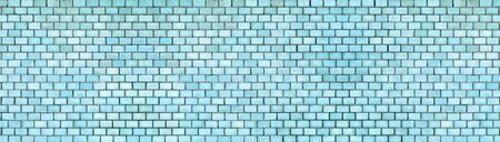Brick wall of blue color, the texture of the stone surface