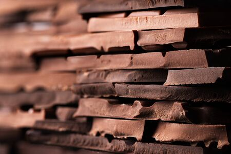 stack of chocolate background, sweet dessert, organic food