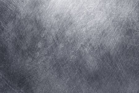 Sheet of damaged iron, gray steel plate as an abstract background