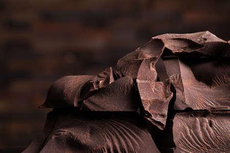 more chocolate chunks, pile of sweet candy 版權商用圖片