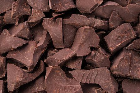 broken bars dark chocolate background, dessert food