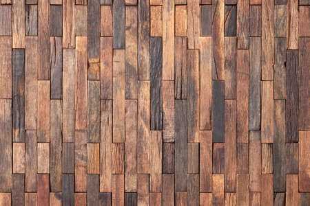 brown plank wall panel for design, wood texture background