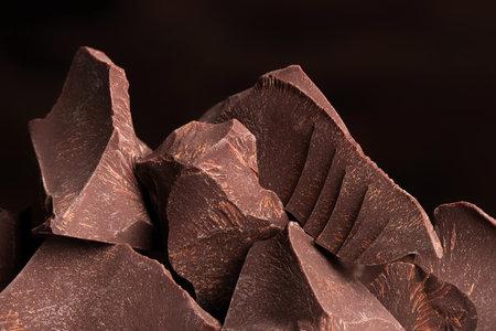 heap of bitter chocolate, piece sweet cocoa desser