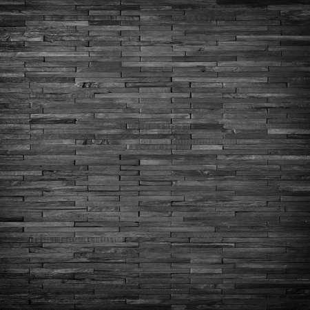 black plank wall panel, dark wood texture background 免版税图像
