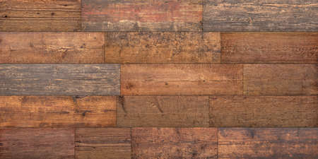 Wood texture, old boards. Vintage background of wooden table or floor.