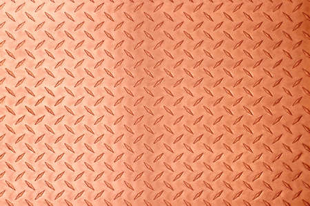 copper metal texture with diamond embossed. bronze plate background