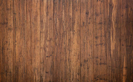 rustic wooden table with vintage surface, brown planks background