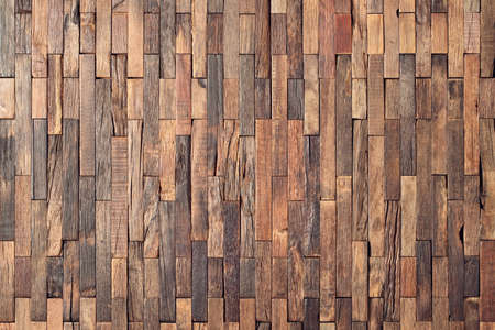 interior wooden wall background, wood texture mosaic boards