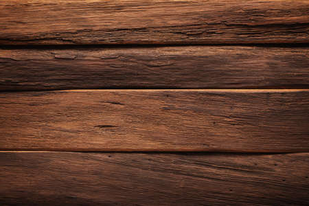 wood table texture, dark planks background for design Standard-Bild