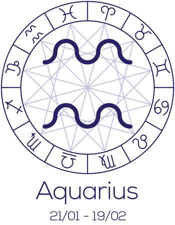Zodiac Sign Capricorn Astrological Symbol In Wheel With Polygonal