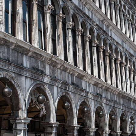 procuratie: View of Procuratie Vecchie - building in gothic style on St Marks Square