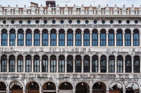 procuratie: Facade of Procuratie Vecchie - building in gothic style on St Marks Square Editorial
