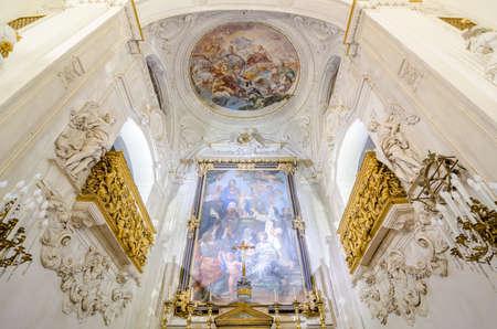 oratoria: Palermo, Italia - 9 de septiembre, 2015: Interior del Oratorio del Rosario de Santa Cita en Palermo, Sicilia, Italia. Editorial