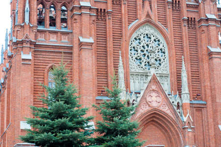 immaculate: The Cathedral of the Immaculate Conception of the Holy Virgin Mary. Neo-Gothic church in Moscow, Russia.