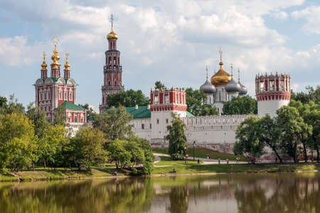 Novodevichy Convent in Moscow, Russian Orthodox Church. Stock Photo