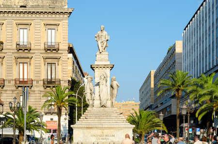 catania: Catania, Italy - September 13, 2015: Stesichorus Square and Bellinis Monument